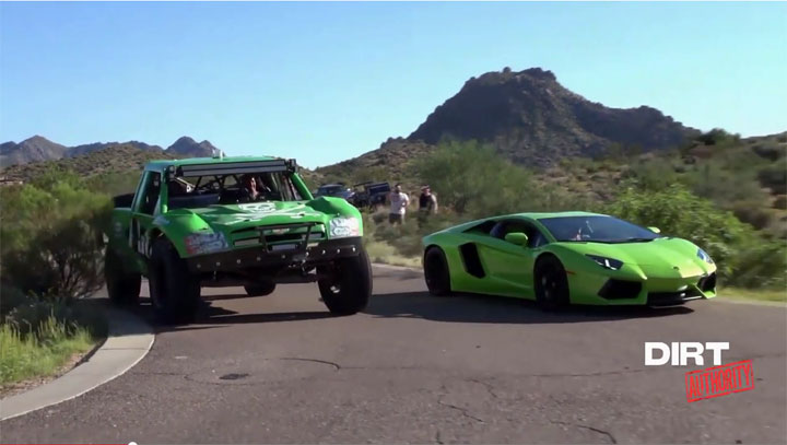 Lambo and trophy truck